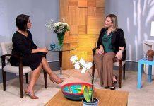 Roseann Kennedy conversa com a deputada eleita Joice Hasselmann. Foto: TV Brasil/Divulgação