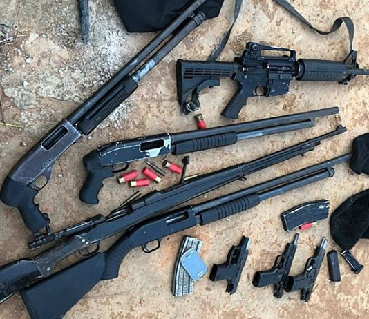 Fuzis, espingardas e pistolas foram apreendias na ação. Foto: Polícia Civil