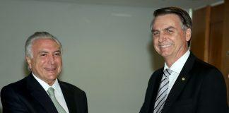Bolsonaro e Temer. Foto: Wilson Dias/Agência Brasil