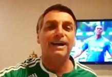 Bolsonaro parabeniza Palmeiras. Foto: Reprodução