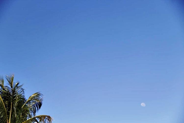 Céu sem nuvens em Dourados (MS). Foto: Kátia Zamignan/Gazeta do Dia