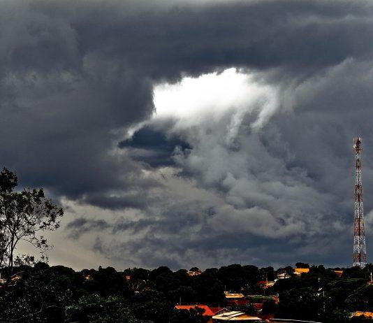 Nuvens em Glória de Dourados. Foto: Rafael Henrique/Gazeta do Dia
