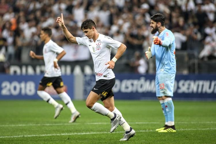 Mateus Vital fez o gol do Timão. Foto: Rodrigo Coca/Agência Corinthians