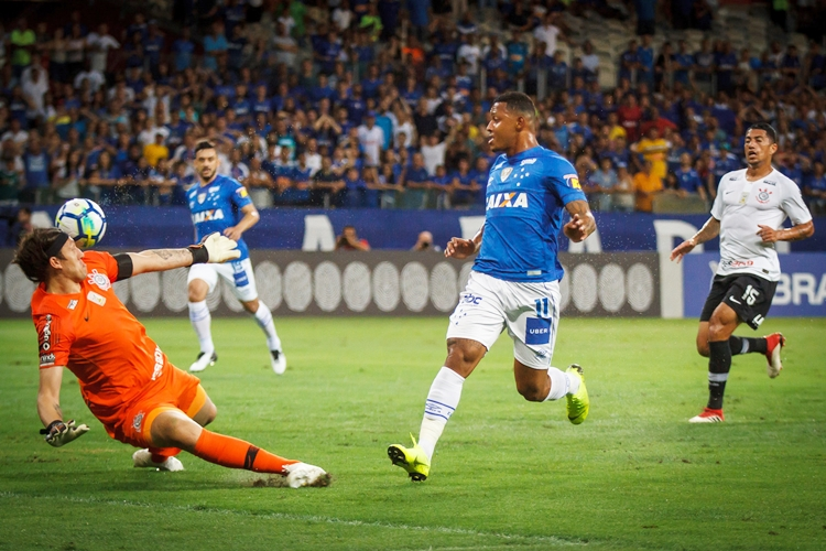 Cruzeiro vence o Corinthians. Foto: Vinnicius Silva/Cruzeiro