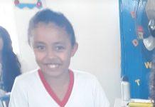 Débora, de 8 anos, morreu em acidente em Serra Talhada. Foto: Reprodução