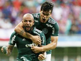 Felipe Melo fez golaço para o Verdão. Foto: Site oficial/Palmeiras