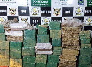 DOF apreendeu maconha e skunk em Amambai. Foto: DOF/Divulgação