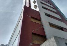 Prédio de 16 andares é evacuado em Campos. Foto: Cleber Rodrigues/Inter TV/Reprodução