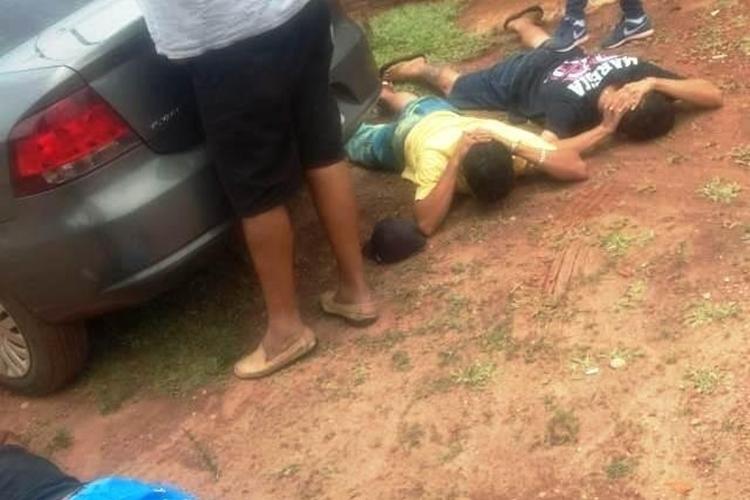 Suspeitos foram presos em Ponta Porã. Foto: Reprodução