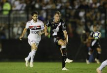 Vasco vence o São Paulo no RJ. Foto: Rafael Ribeiro/Vasco