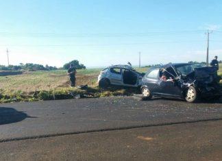 Seis pessoas morreram e três ficaram feridas em acidente em Candói. Foto: PRF/Divulgação