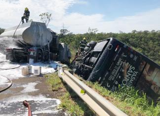 Motorista que levava equipe da cantora Yasmin Santos morreu no local. Foto: PRF/Divulgação