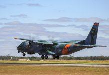 Aeronave da FAB auxilias nas buscas no Pantanal, em Mato Grosso. Foto: FAB/Divulgação