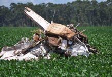 Avião caiu em Chapadão do Sul. Foto: O Correio News/Reprodução