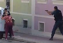 Assaltante é morto após fazer idosa refém em Valença. Foto: Reprodução