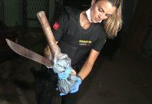 Adolescente usou um facão e uma marreta para matar o pai, em João Pessoa. Foto: TV Cabo Branco/Reprodução