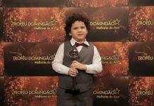 Davi Queiroz é o ator mirim do ano de 2018!. Foto: Paulo Damasceno/Gshow/Reprodução