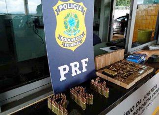 Um terço dos projéteis são de fuzil calibre 556. Foto: Agência PRF/Reprodução