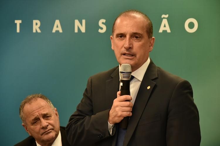 Ministro da Cidadania, Onyx Lorenzoni. Foto: Rafael Carvalho/Governo de Transição