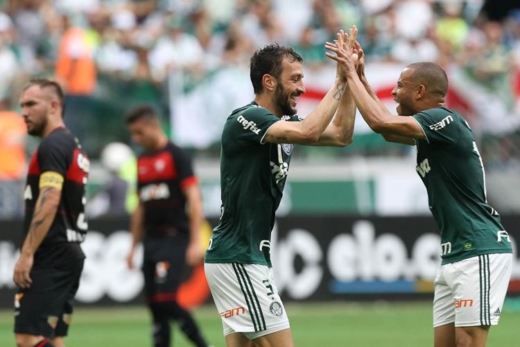 Palmeiras superou o Vitória. Foto: Cesar Greco/Agência Palmeiras