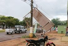 Temporal causou transtornos. Foto: Vanderi Tomé/Região News/Reprodução