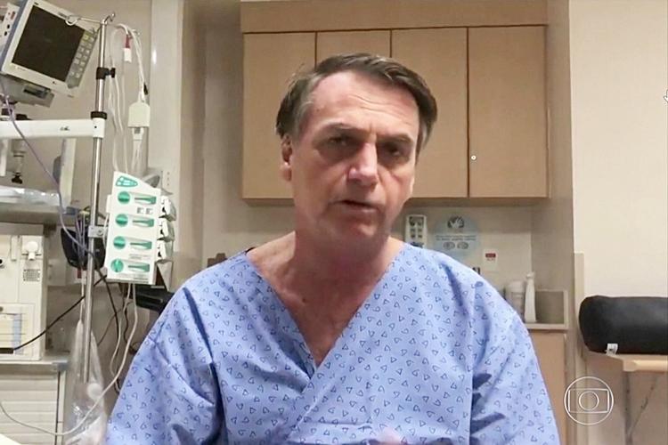 Jair Bolsonaro no hospital. Foto: Reprodução