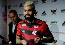Gabriel Barbosa. Foto: Marcelo Cortez/Flamengo