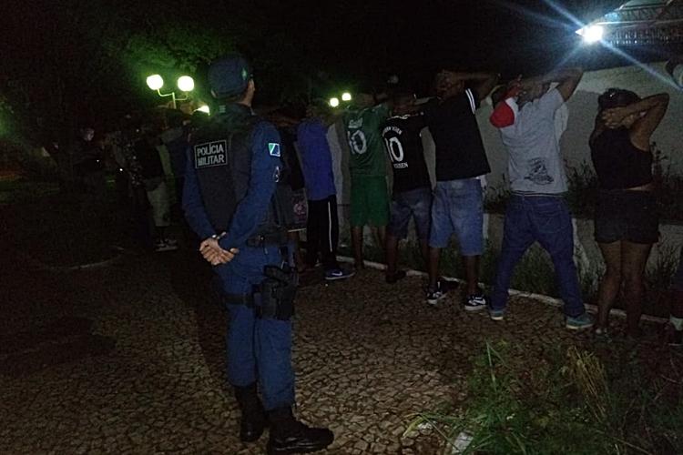 Polícia faz operação em Glória de Dourados. Foto: Polícia Militar/Divulgação
