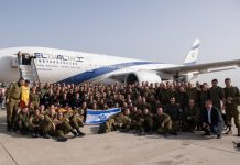 Militares de Israel embarcam para Brumadinho. Foto: Reprodução