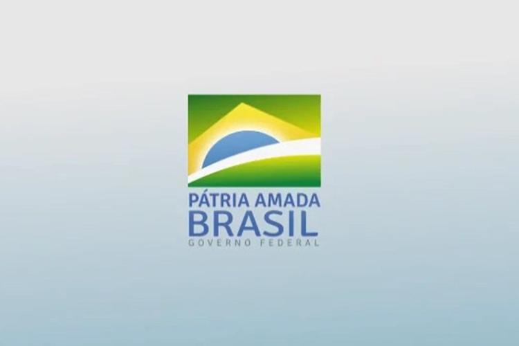 Logomarca com o novo slogan do governo: Pátria Amada Brasil. Foto: Divulgação