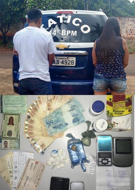 Casal foi preso em Fátima do Sul. Foto: Divulgação