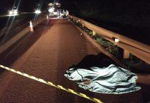 Homem morreu atropelado. Foto: Sidnei Bronka/Reprodução