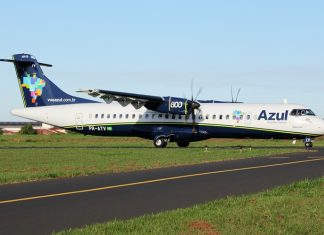 ATR-72-600, da Azul. Foto: Wikipédiaa