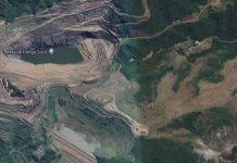 Imagem aérea da Minas Gongo Soco, em Barão de Cocais. Foto: Google/Reprodução