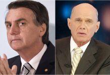 Bolsonaro lamenta morte de Boechat. Foto: Reprodução