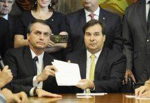 Presidente da Câmara dos Deputados, Rodrigo Maia, e o Presidente da República, Jair Bolsonaro. Foto: Luis Macedo/Câmara dos Deputados