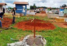 Cemitério onde corpo foi levado. Foto: Buriti News/Reprodução