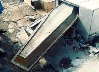 Túmulos são violados no cemitério central de Londrina. Foto: Reprodução