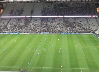Corinthians e Racing se enfrentaram nesta quinta-feira (14). Foto: Reprodução
