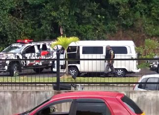 Homens estavam em uma Kombi. Foto: Divulgação