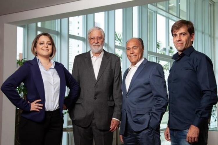 Fernanda Lara, Decio Paes Manso, Thales Toffoli e Flávio Morsoletto – fundadores do I'Max . Foto: Divulgação