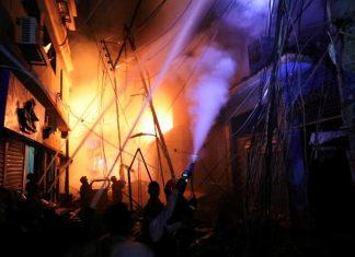 Incêndio em Bangladesh. Foto: Reprodução