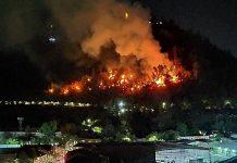 Incêndio em Santiago. Foto: Reprodução