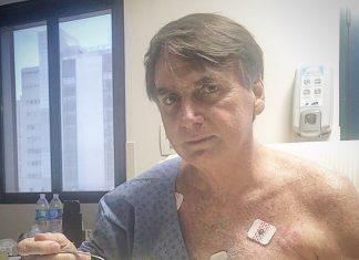 Jair Bolsonaro no hospital. Foto: Reprodução/Instagram