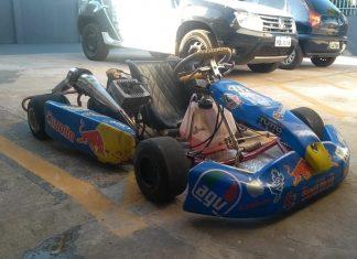 Kart foi apreendido após perseguição pelas ruas de Sarandi. Foto: Guarda Municipal de Maringá/Divulgação
