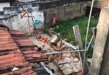 Muro desaba e mata criança de 5 anos que brincava em rede em São José dos Campos. Foto: Pedro Melo/TV Vanguarda