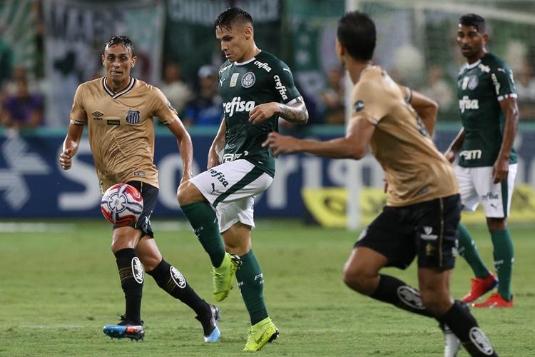 Palmeiras e Santos ficaram no empate. Foto: Cesar Greco/Agência Palmeiras