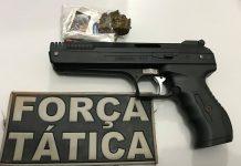 Pistola que era negociada. Foto: Divulgação