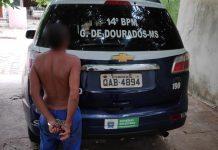 Homem é detido em Glória de Dourados. Foto: Divulgação