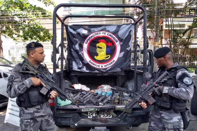Batalhão de Choque participou de operação no Fallet-Fogueteiro. Foto: Divulgação